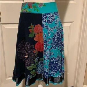 Desigual Roses Skirt